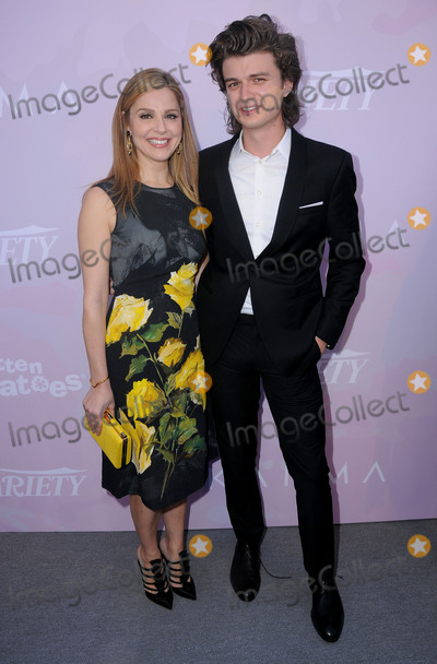 Cara Buono Photo - 28 January 2017 - Hollywood California - Cara Buono Joe Keery 2017 Varietys Celebratory Awards Nominees Brunch held at The Dolby Theater Photo Credit Birdie ThompsonAdMedia