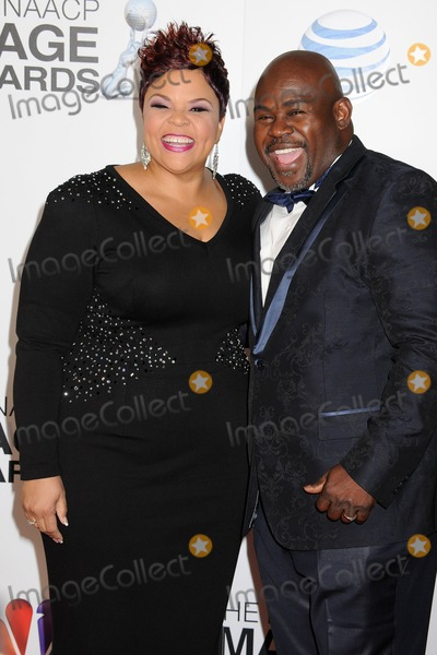 Tamela Mann Photo - 1 February 2013 - Los Angeles California - Tamela Mann David Mann 44th NAACP Image Awards - Arrivals held at the Shrine Auditorium Photo Credit Byron PurvisAdMedia