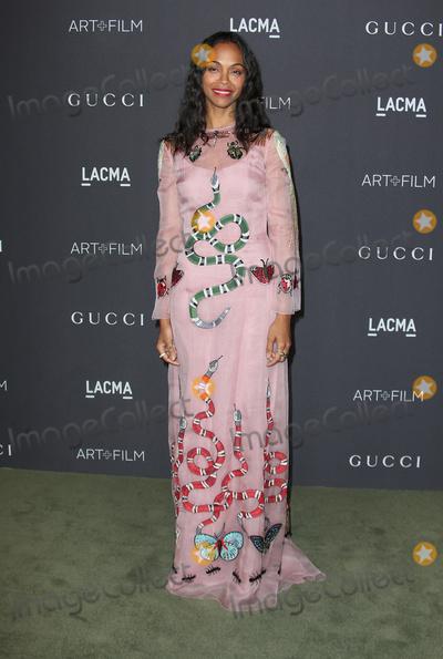 Zoe Saldana Photo - 29 October 2016 - Los Angeles California - Zoe Saldana 2016 LACMA Art  Film Gala honoring Robert Irwin and Kathryn Bigelow presented by Gucci held at LACMA Photo Credit AdMedia