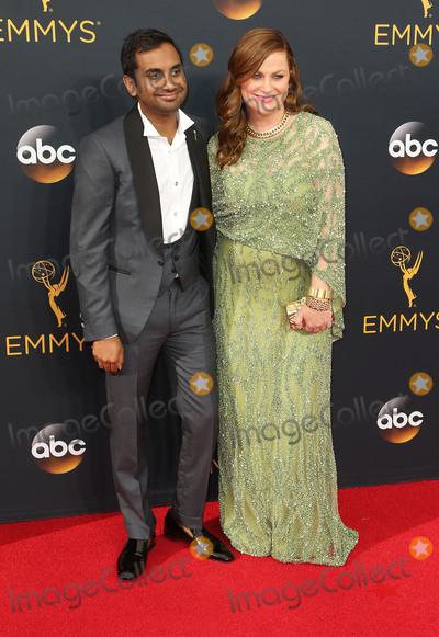 Aziz Ansari Photo - 18 September 2016 - Los Angeles California - Aziz Ansari Amy Poehler 68th Annual Primetime Emmy Awards held at Microsoft Theater Photo Credit AdMedia