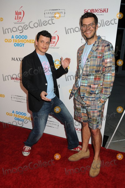 Alex Gregory Photo - 25 August 2011 - Hollywood California - Alex Gregory and Peter Huyck A Good Old Fashioned Orgy Los Angeles Special Screening held at Arclight Cinemas Photo Credit Byron PurvisAdMedia