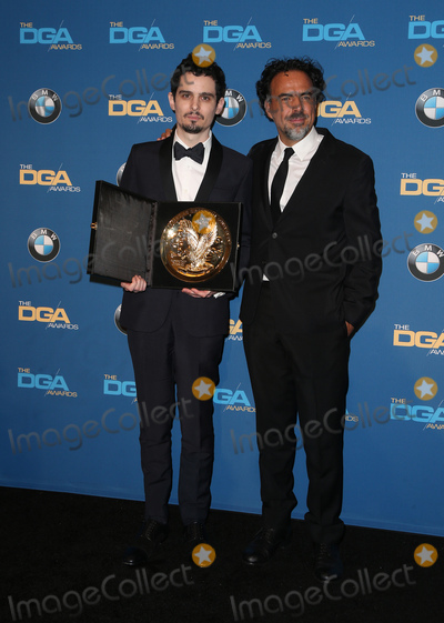 Alejandro GInarritu Photo - 04 February 2016 -  Beverly Hills California - Damien Chazelle Alejandro G Inarritu 69th Annual Directors Guild Of America Awards - Press Room held at The Beverly Hilton Hotel Photo Credit Faye SadouAdMedia