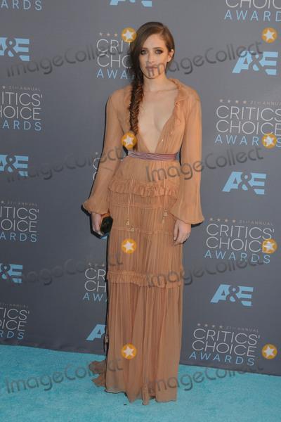 Carly Chaikin Photo - 17 January 2016 - Santa Monica California - Carly Chaikin 21st Annual Critics Choice Awards - Arrivals held at Barker Hangar Photo Credit Byron PurvisAdMedia