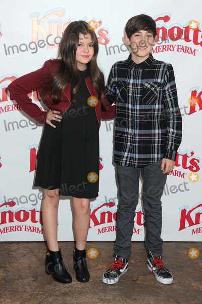 Addison Riecke Photo - 5 December 2015 - Buena Park California - Addison Riecke Diego Velazquez Snoopys Merriest Tree Lighting Event held at Knotts Berry Farm Photo Credit Byron PurvisAdMedia