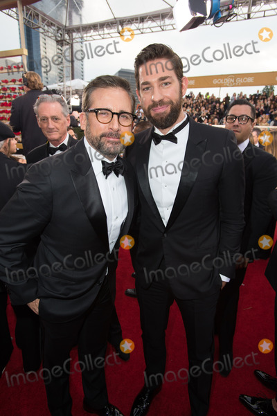 Steve Carell Photo - Steve Carell Golden Globe Nominee in the category of BEST PERFORMANCE BY AN ACTOR IN A MOTION PICTURE for The Big Short and presenter John Krasinski arrive at the 73rd Annual Golden Globe Awards at the Beverly Hilton in Beverly Hills CA on Sunday January 10 2016 Photo Credit HFPAAdMedia