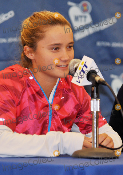 Lauren Davis Photo - 27 October 2011 - Cleveland OH - Pro tennis player LAUREN DAVIS talks to the media at a press conference for the annual World TeamTennis Smash Hits charity night of tennis to Cleveland for the first time in the events 19-year history Tennis greats Andy Roddick Martina Navratilova John McEnroe Amelie Mauresmo Coco Vandeweghe Jan-Michael Gambill and Cleveland area native Lauren Davisjoined other top players for WTT Smash Hits presented held at Public Hall Photo Credit Jason L NelsonAdMedia