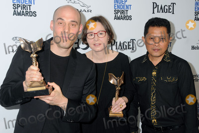 Adi Rukun Photo - 27 February 2016 - Santa Monica California - Joshua Oppenheimer Adi Rukun Signe Byrge Sorensen 31st Annual Film Independent Spirit Awards - Press Room held at the Santa Monica Pier Photo Credit Byron PurvisAdMedia