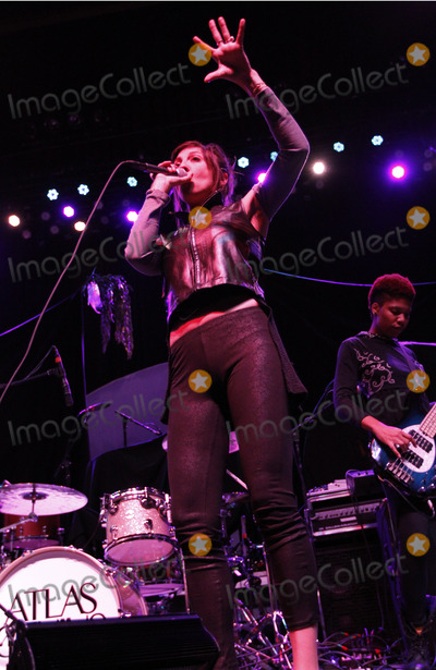 Aja Volkman Photo - February 14 2013 - Atlanta GA - LA-based indie rock band Nico Vega currently on tour in support of Imagine Dragons made a stop at The Tabernacle in downtown Atlanta GA where they performed for a sold-out crowd of enthusiastic fans Photo credit Dan HarrAdMedia