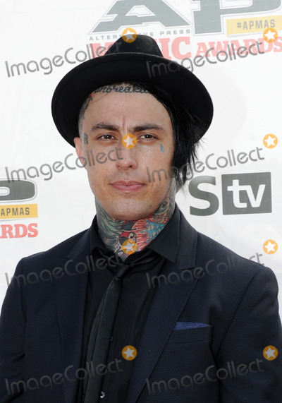 Ronnie Radke Photo - 21 July 2014 - Cleveland OH - Vocalist RONNIE RADKE of the band FALLING IN REVERSE attend the 1st Annual 2014 Gibson Brands AP Music Awards at the Rock and Roll Hall of Fame and Museum   Photo Credit Jason L NelsonAdMedia