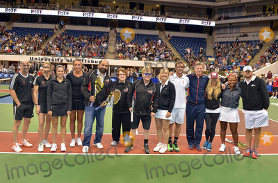 Andy Roddick Photo - 16 October 2012 - Pittsburgh PA - Tennis stars a professional football player and a music legend participated at the Mylan WTT Smash Hits World Team Tennis Match held at the Petersen Events Center (Pictures from left to right ANDRE AGASSI STEPHANIE GRAF CHRISTINA MCHALE SAMANTHA CRAWFORD FRANCO HARRIS BILLIE JEAN KING SIR ELTON JOHN MARTINA NAVRATILOVA JAN-MICHAEL GAMBILL MARK KNOWLES ANNA KOURNIKOVA TAYLOR TOWNSEND and ANDY RODDICK) The 20th anniversary edition of Mylan WTTSmash Hits presented by GEICO was one for the record books with the event posting a record 1 million for the Elton John AIDS Foundation with a portion of those proceeds benefitting the Pittsburgh AIDS Task Force Theevent hosted annually by Sir Elton John and Billie Jean King has now raised more the 115 million to support HIV and AIDS prevention and awareness programs since the first Smash Hits was held in Los Angeles in 1993  Photo Credit Jason L NelsonAdMedia