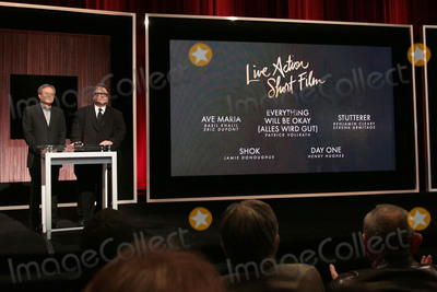 Ang Lee Photo - 14 January 2016 - Beverly Hills California - Ang Lee Guillermo del Toro Category Live Action Short Film 88th Annual Oscars Nominations Announcement held at the Samuel Goldwyn Theater Photo Credit Byron PurvisAdMedia