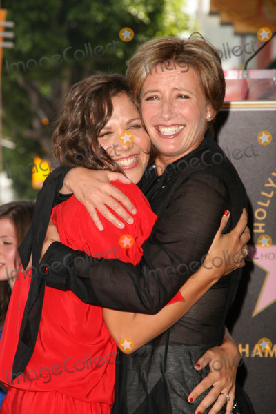 Emma Thompson Photo - Maggie Gyllenhaal Emma Thompson at the induction ceremony for Emma Thompson into the Hollywood Walk of Fame Hollywood CA 08-06-10