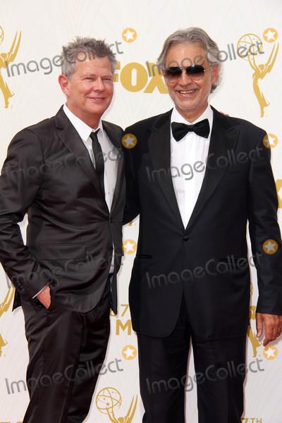 Andrea Bocelli Photo - David Foster Andrea Bocelliat the 67th Annual Primetime Emmy Awards Arrivals Microsoft Theater Los Angeles CA 09-20-15
