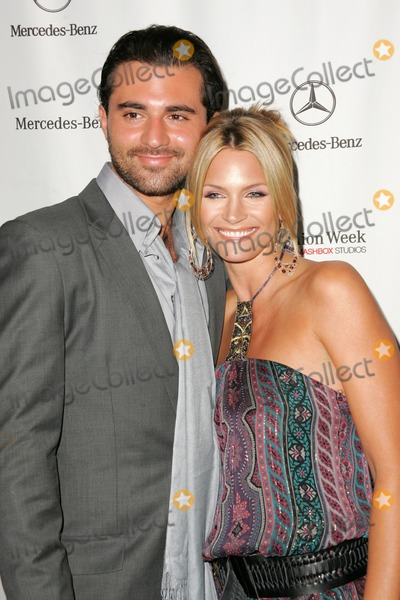 Liam Waite Photo - Natasha Henstridge and Liam Waiteattending the first day of Mercedes-Benz Fashion Week Smashbox Culver City CA 10-16-05