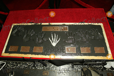 Iron Maiden Photo - Iron Maidens Plaque at the ceremony honoring Iron Maiden with induction in to the Hollywood Rockwalk Rockwalk HollywoodCA 08-19-05