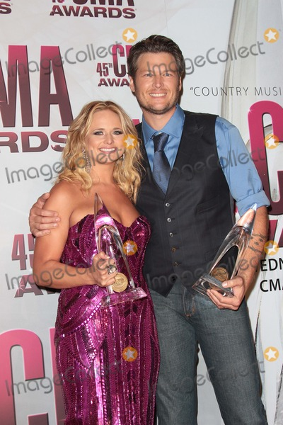 Miranda Lambert Photo - Miranda Lambert and Blake Sheltonat the 2011 CMA Awards Bridgestone Arena Nashville TN 11-09-11