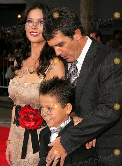 Adrian Alonso Photo - Catherine Zeta-Jones with Antonio Banderas and Adrian Alonsoat the premiere of The Legend of Zorro Orpheum Theater Los Angeles CA 10-16-05