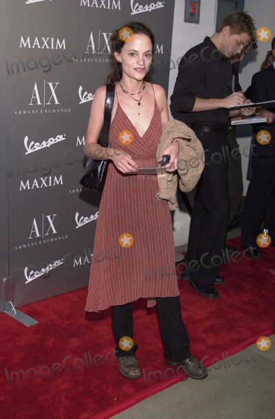 Angela Bettis Photo -  ANGELA BETTIS at the Armani Santa Monicas 10th Anniversary Party Santa Monica Promenade  08-23-01