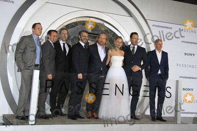 Jennifer Lawrence Photo - LOS ANGELES - DEC 14  Executives Michael Sheen Morten Tyldum Jennifer Lawrence Chris Pratt Executive at the Passengers Premiere at Village Theater on December 14 2016 in Westwood CA