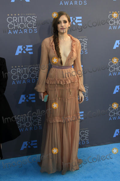 Carly Chaikin Photo - LOS ANGELES - JAN 17  Carly Chaikin at the 21st Annual Critics Choice Awards at the Barker Hanger on January 17 2016 in Santa Monica CA