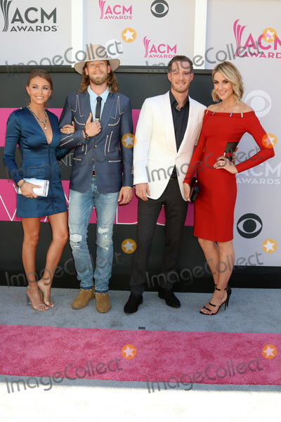 Brian Kelley Photo - LAS VEGAS - APR 2  Florida Georgia Line Brittney Marie Cole Brian Kelley Tyler Hubbard Hayley Stommel at the Academy of Country Music Awards 2017 at T-Mobile Arena on April 2 2017 in Las Vegas NV