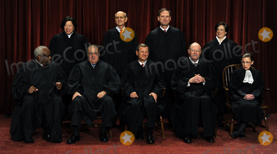 Antonin Scalia Photo - The Supreme Court Justices of the United States sit for a formal group photo in the East Conference Room of the Supreme Court in Washington on Friday October 8 2010 The Justices are (front row from left) Clarence Thomas Antonin Scalia John G Roberts (Chief Justice) Anthony Kennedy Ruth Bader Ginsburg (back row from left) Sonia Sotomayor Stephen Breyer Sameul Alito and Elena Kagan the newest member of the Court  Credit Roger L Wollenberg - Pool via CNP
