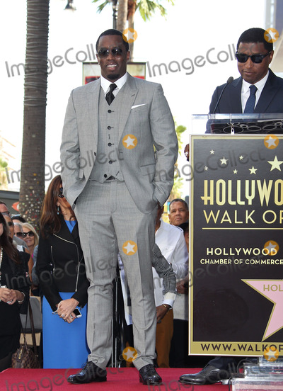 Diddy Combs Photo - Photo by REWestcomStarmaxinccom2013ALL RIGHTS RESERVEDTelephoneFax (212) 995-1196101013Sean P Diddy Combs Kenny Babyface Edmonds Kenny Babyface Edmonds honored with a star on the Hollywood Walk of Fame in front of the W Hotel in (Hollywood CA)