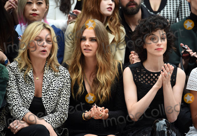 Annie Clark Photo - Photo by KGC-03starmaxinccomSTAR MAXCopyright 2015ALL RIGHTS RESERVEDTelephoneFax (212) 995-119692115Kate Moss Cara Delevingne and Annie Clark aka St Vincent are seen at the Burberry Prorsum Runway Show during London Fashion Week SS16(London England UK)