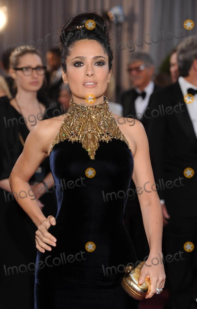 Salma Hayek Photo - 24th February 2013 85th Annual Academy Awards - Oscars Arrivals Dolby Theatre Hollywood CAPictured Salma HayekKGC-301starmaxinccom