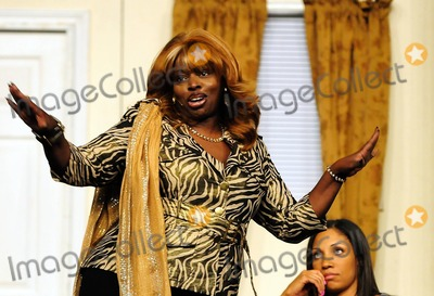 Angie Stone Photo - Angie Stone Tamika Tanner and Calandra Glenn perform in Theo Londons Inspirational Staged play Loving Him Is Killing Me at James L Knight Center Miami FL 51511