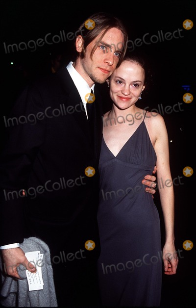 Angela Bettis Photo -  the Crucible Opening Night at the Virginia Theatre in New York City 030702 Photo by Henry McgeeGlobe Photos Inc 2002 Angela Bettis and Date