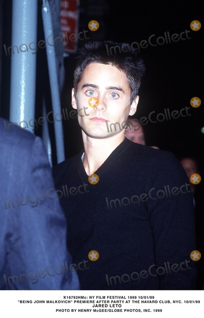 Jared Leto Photo -  NY Film Festival 1999 Being John Malkovich Prem After Party at the Havard Club NYC 10011999 Jared Leto Photo by Henry McgeeGlobe Photosinc