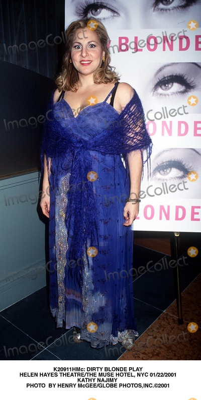 Kathy Najimy Photo -  Dirty Blonde Play Helen Hayes Theatrethe Muse Hotel NYC 01222001 Kathy Najimy Photo by Henry McgeeGlobe Photosinc