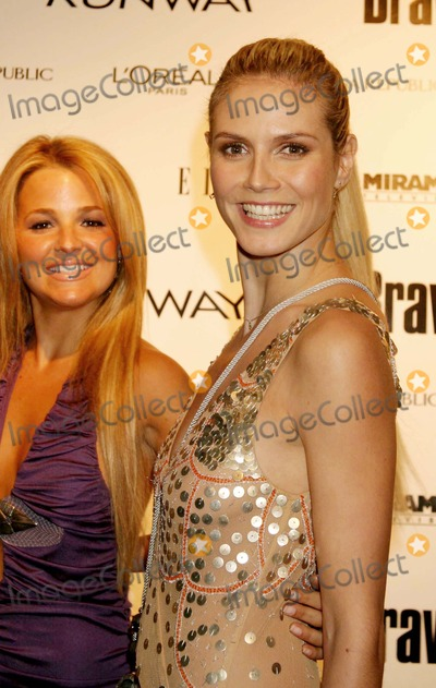 Alexandra Vidal Photo - Heidi Klum with Alexandra Vidal (Project Runway Contestant) Arriving at a Launch Party For Bravos Project Runway at Pm Lounge in New York City on 11-30-2004 Photo by Henry McgeeGlobe Photos Inc 2004