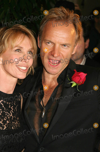 Sting Photo - Trudie Styler and Sting Arriving at the After-party For the 12th Annual Rainforest Foundation Benefit Concert at the Pierre Hotel in New York City on April 21 2004 Photo by Henry McgeeGlobe Photos Inc 2004
