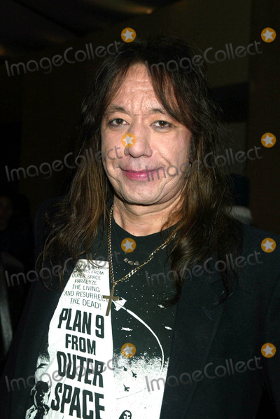 Ace Frehley Photo - Ace Frehley (Kiss) at Anna Sui Showing of Fall Collection in the Tent at Bryant Park in New York City on February 12 2003 Photo by Henry McgeeGlobe Photos Inc2003