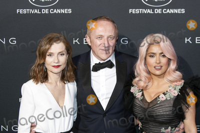 Salma Hayek Photo - CANNES FRANCE - MAY 21 Francois-Henri Pinault Salma Hayek and Isabelle Huppert attends the Women in Motion Awards Dinner at the 70th Cannes Film Festival at Place de la Castre on May 21 2017 in Cannes France (Photo by VenturelliGetty Images for Kering)