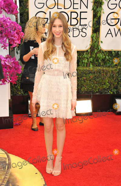 Taissa Farmiga Photo - Janaury 12 2014 LAActress Taissa Farmiga arriving at the 71st Annual Golden Globe Awards held at The Beverly Hilton Hotel on January 12 2014 in Beverly Hills California