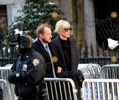 Philip Seymour Hoffman Photo - February 7 2014 New York CityActress Cate Blanchett and her husband Andrew Upton arrive at Philip Seymour Hoffmans funeral at St Ignatius Loyola Church in Manhattan on February 7 2014 in New York City