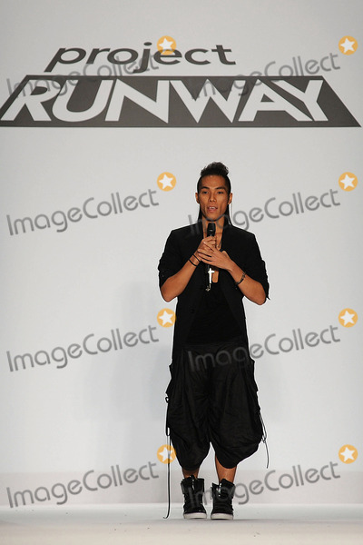 ANDY SOUTH Photo - Designer Andy South on the runway at the Project Runway Spring 2011 fashion show during Mercedes-Benz Fashion Week at The Theater at Lincoln Center on September 9 2010 in New York City