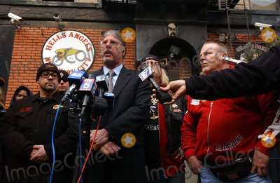 HELLS ANGELS Photo - Hells Angels Member and Lawyer Ron Kuby Holds Press Conference to discuss Raid on the 3rd Street Clubhouse