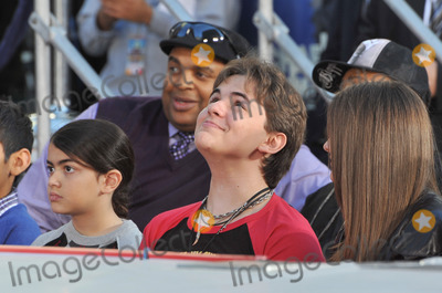 Prince Michael Jackson Photo - Michael Jacksons children Prince Michael Paris  Prince Michael II Blanket on Hollywood Boulevard where they placed their fathers hand  footprints using his shoes  glove in cement in the courtyard of the Graumans Chinese TheatreCirque du Soleils new show Michael Jackson THE IMMORTAL World Tour premieres in Los Angeles tomorrowJanuary 26 2012  Los Angeles CAPicture Paul Smith  Featureflash