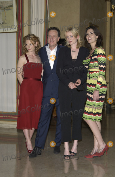 Geoffrey Rush Photo - LtoR EMILIA FOX GEOFFREY RUSH EMILY WATSON  SONIA AQUINO at photocall at the Cannes Film Festival to promote their new movie The Life and Death of Peter Sellers17MAY2003