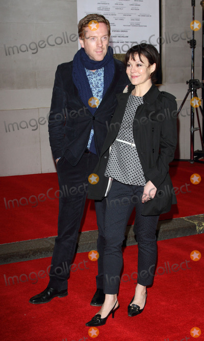 Damien Lewis Photo - London UK   Damien Lewis and  Helen McCrory   at the  Opening Night of  Book of Mormon  at the Prince of Wales Theatre Coventry Street London 21st March  2013   Keith MayhewLandmark Media