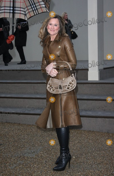 ANGELA AHRENDTS Photo - London UK Angela Ahrendts at the Burberry Prorsum LFW AutumnWinter 2010 Womens wear show held at the Parade Ground in Chelsea College of Art 23rd February 2010Keith MayhewLandmark Media