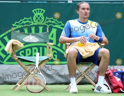 Alexandr Dolgopolov Photo - Stoke Park Buckinghamshire UK  Alexandr Dolgopolov (Ukraine) plays Sam Querrey (USA) at The Boodles Tennis Challenge held at Stoke Park 21st June 2013 RefLMK73-44523-220613 Keith MayhewLandmark Media WWWLMKMEDIACOM