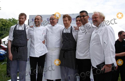 Alain Ducasse Photo - London UK   Celebrity chefs  L-R Unknown Michel Roux Alain Ducasse  Tom Aiken  Atul Kochhar   and Antony Worrall Thompson at the  Taste of London  food and drink festival in Regents Park London 18th June 2009Rafe CookLandmark Media