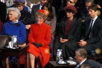 Patti Davis Photo - Nancy Reagan at Ronald Reagans Inauguration 1981 Barbara Bush Behind Barbara Bush Maureen Reagan Patti Davis Reagan Ron Reagan Jrs Wife and Ron Reagan Jr Photo by James ColburnipolGlobe Photos Nancyreaganretro