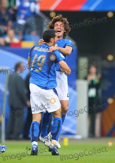 Andrea Pirlo Photo - Italy V Ukraine Aol Arena Hamburg Germany 06-30-2006 Photo by Stewart Kendall-allstar-Globe Photos Inc 2006 Ginaluca Zambrotta  Andrea Pirlo
