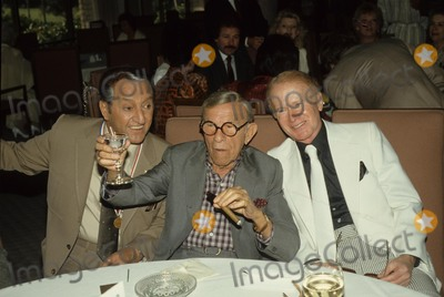 Danny Thomas Photo - Danny Thomas with George Burns and Red Buttons Photo by Michelson-Globe Photos Inc